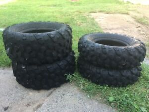 4 atv tires 25x8x12 & 25x10x12 exc condition $175.00