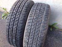 2 pneus 175/65r14 motomaster