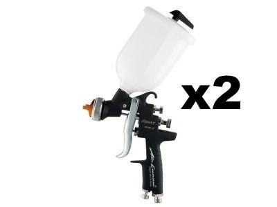 Iwata BLACK Flash Limited Ed RARE 1.4 & 1.6mm TWIN PACK Spray Gun + 4 FREE GIFTS