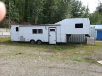 Proffessionally built aluminum camp trailer, 40 ft. $15,000.