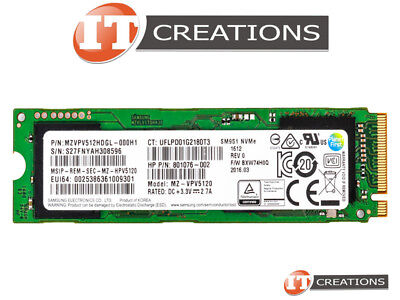 SAMSUNG 512GB PCIE NVME M.2 2280 SM951 SOLID STATE DRIVE SSD MZVPV512HDGL-HP