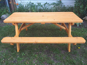 Hand built Picnic Table