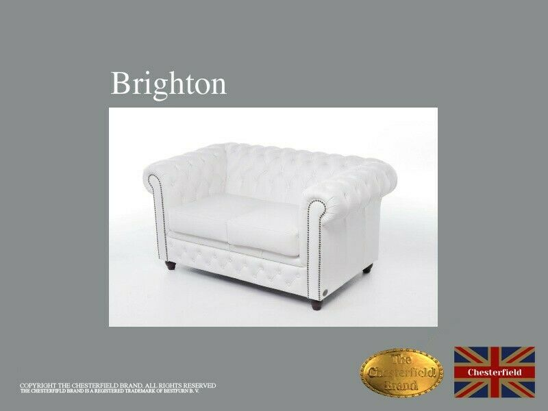 Chesterfield Sofa -The Chesterfield Brand Authentic -2 seats -Real leather -HANDEMADE