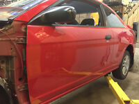 Honda Civic Drivers Door Red