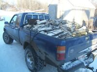 FIREWOOD DELIVERY SERVICE $100 HEAPING TOYOTA LOAD SPLIT