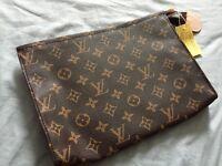 Unisex designer inspired brown lv ladies clutch bag