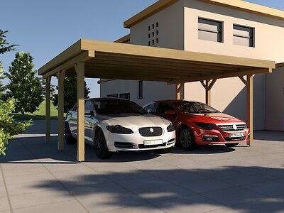 Carport Flachdach SILVERSTONE I 500x500 cm Bausatz