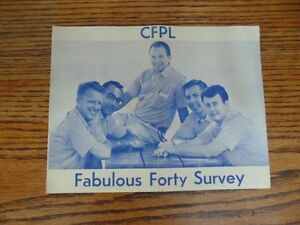 Original CFPL Fabulous Forty Survey From 1960's