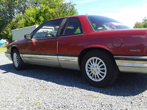 Lady Driven  2 door 1991 burgundy Buick Regal 3800 Limited