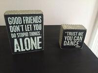 Decorative Box Signs