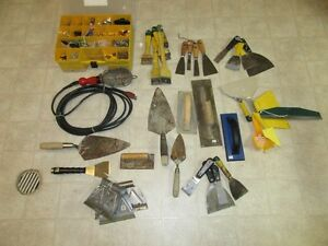 lot hand tools, trowels, spreaders etc   over $350 new 1st $70