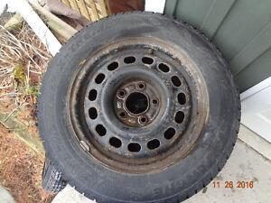 Snow Tires on Steel rims Belleville Belleville Area image 2