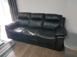 Reclining Textured Microfiber Couch and Loveseat