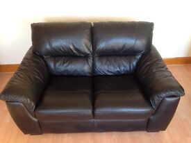 2 Seater Black Leather Sofa £100