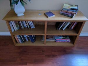 Oak Bookshelf and chest