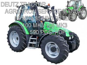 deutz fahr agrotron 80 85 90 100 105 mk3 tractor repair. Black Bedroom Furniture Sets. Home Design Ideas
