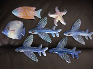 NEW: POTTERY SEA LIFE - FOR BATH, CHILD'S ROOM OR OUTDOOR DECOR