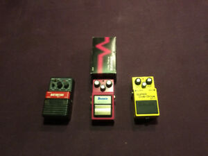 Pedal Boss sd-1,Ibanez AD9, Arion Sdi-1