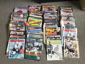 Sports magazines.   50+.  Beckett, Cdn Sports