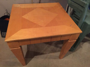 SOLID MAPLE COFFEE & END TABLES OBO