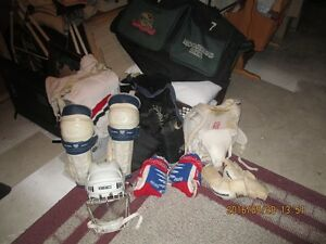 Senior Hockey Gear used by an Old Timer