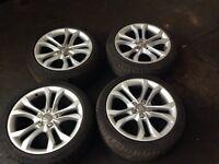 "Audi tts genuine 18""alloys with tyres"