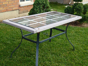ONE OF KIND PATIO TABLE - HAND CRAFTED