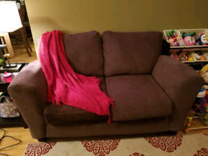 Brown 3 peice couch set