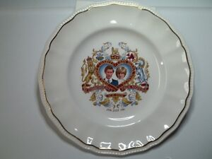 Lady Diana, Prince Charles Commemorative Wedding Plate 1981.