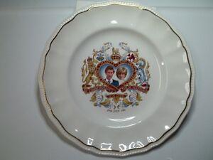 Lady Diana, Prince Charles Commemorative Wedding Plate 1981.
