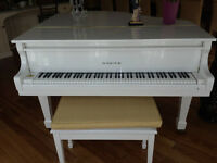 Piano à queue ''Baby Grand'' Samick blanc, excellente condition