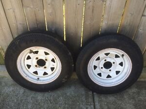 Utility trailer tires and rims