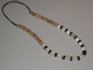 2 Howlite skull bead  necklaces. Adjustable