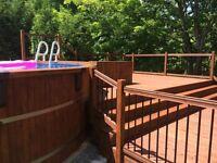 Service de teinture / patio et clôture en bois traité ou cèdre