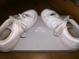 Nike Airforce 1s Triple white.