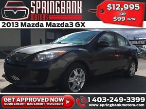 2013 Mazda Mazda3 GX $99B/W INSTANT APPROVAL, DRIVE HOME TODAY!