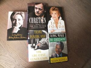 Five hardcover biographies
