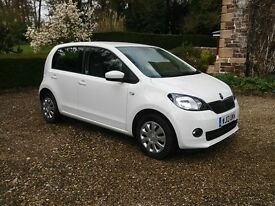 2013 SKODA Citigo Automatic 5 Door in white with air con and only 13,300 miles