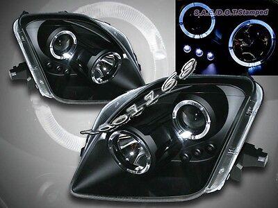 97-01 Honda Prelude Projector Headlights Black Twin Halo LED 98 99 (Honda Prelude Projectors)