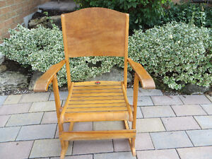 Les Freres Clement Limited No. 218 wooden folding rocking chair