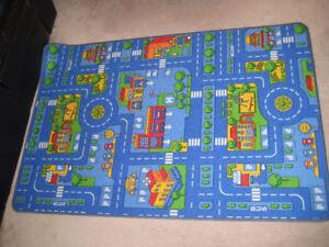 Children's Play Rug carpet, 100 cm by 150 cm, Made in Belgium