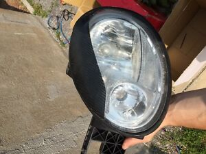 Dodge neon srt4 front head lights with eyelid (lumieres avant)