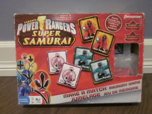 Memory Game - Power Rangers - Great Condition!