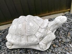 Stunning very large concrete garden tortoise statue