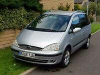 2005 Ford Galaxy 1.9TDi 150bhp Ghia 7 Seater top spec brand new clutch TV screen