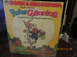 1950 HERE COMES PETER COTTONTAIL BOOK AND RECORD