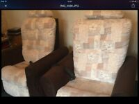 Two beautiful rise/ recline electric mobility chairs