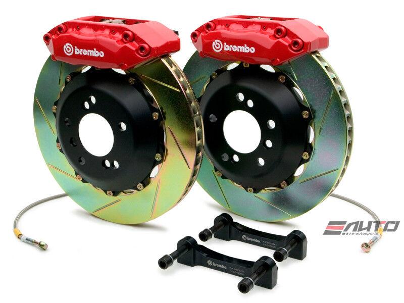 Brembo Front Gt Brake 4pot Red 328x28 Slot Disc Civic 02-03 Ep3 01-05 Em2 Es1
