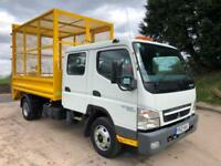 2012 12 Mitsubishi Canter 7c15 Euro 5 crew cab Thompson caged tipper tail-lift