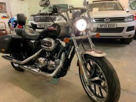 2018 Harley-Davidson SPORTSTER SUPER LOW XL1200T two tone met Custom Petrol Man